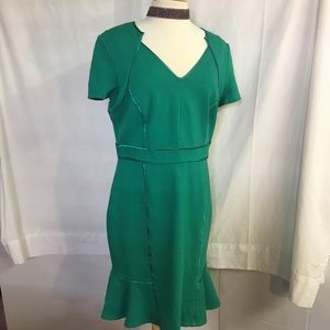 Dress Antonio Melani Size 14 Green Pre-owned EUC.